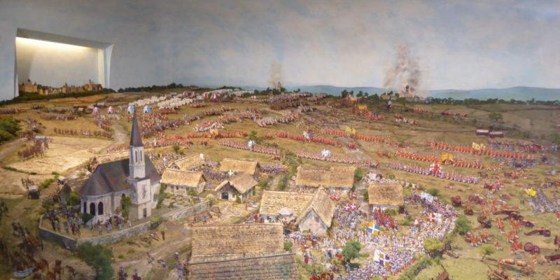 Handgearbeitetes Diorama der Schlacht von 1704 (Foto: VG Höchstädt, Lutmayr)