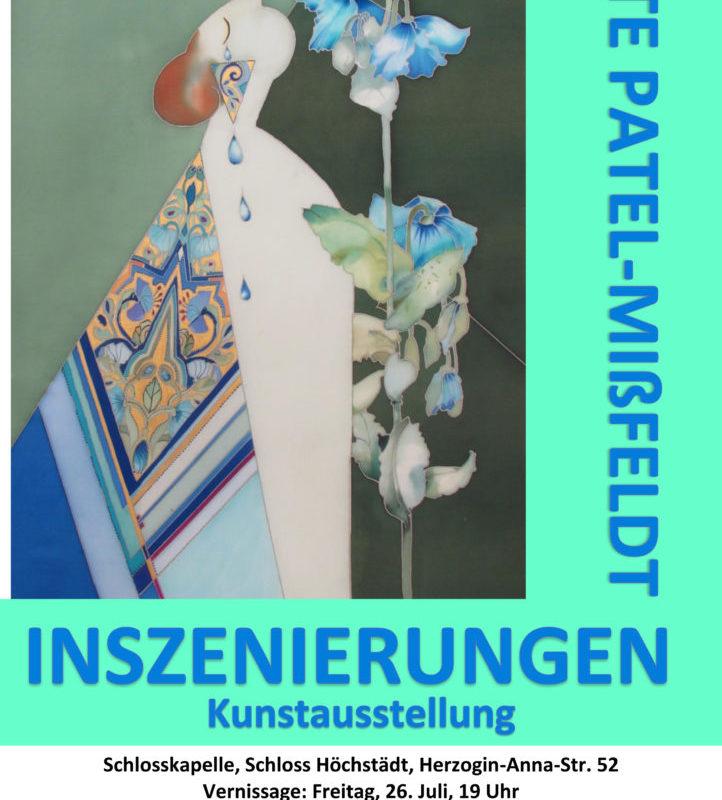 """Kunstausstelllung """"Inszenierungen"""" von Ute Patel-Mißfeldt (Veranstalter: Kulturforum der Stadt Höchstädt)"""