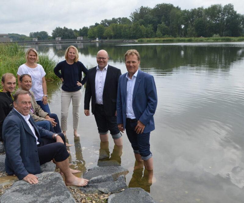 """Maßnahme """"Treppenartige Ufersicherung"""" Höchstädt aus dem Projekt """"Flusslandschaften in Schwaben - Donau erleben!"""" (Bild: Simone Bronnhuber, Donau-Zeitung)"""