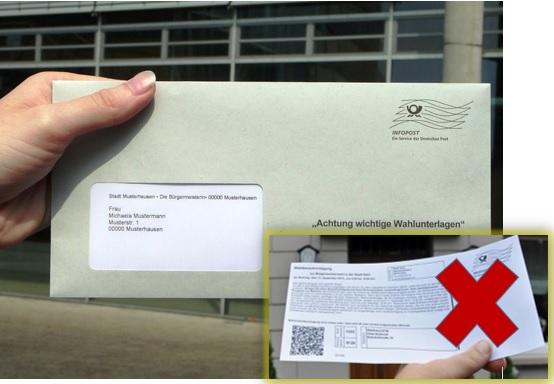Wahlbrief Kommunalwahl 2020