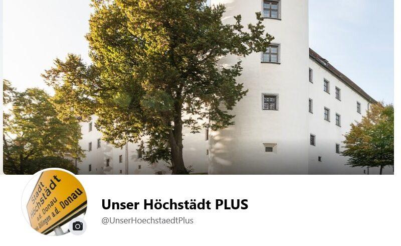 """Facebook Startseite """"Unser Höchstädt PLUS"""""""