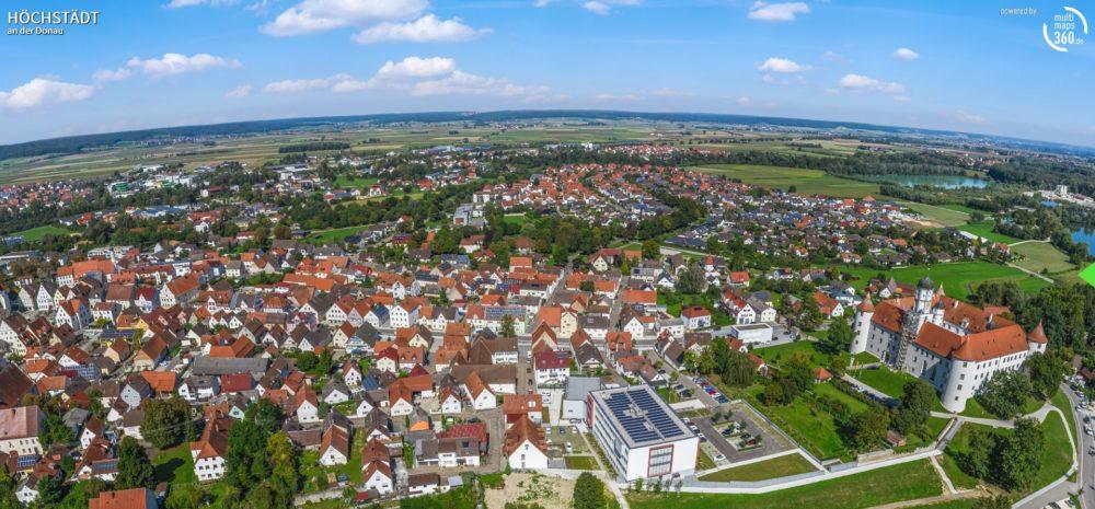 Panorama Höchstädt (Bild: Panorama-Tour Schwäbisches Donautal)