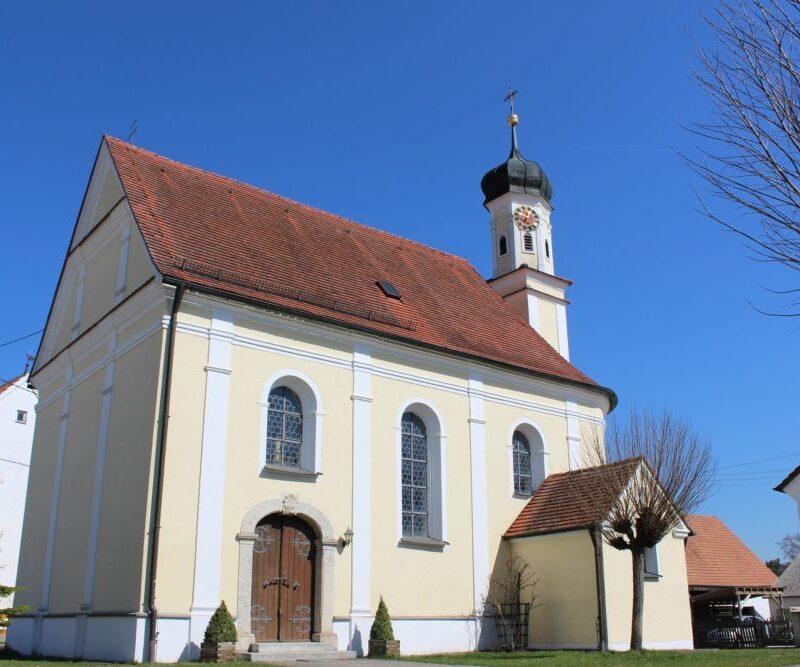 Kirche St. Nikolaus, Wolpertstetten (Bild: VG Höchstädt)